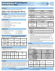 2344 Magnum Technical Data Sheet - Schmolz + Bickenbach AG