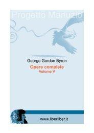 Opere complete di Lord Giorgio Byron (Volume quinto) - Liber Liber