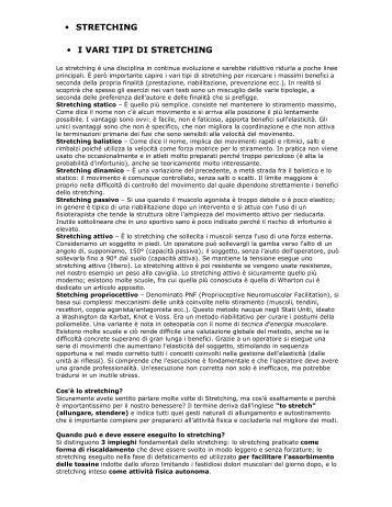 • STRETCHING • I VARI TIPI DI STRETCHING - Pianeta Sport