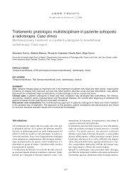 Trattamento gnatologico multidisciplinare in paziente sottoposto a ...