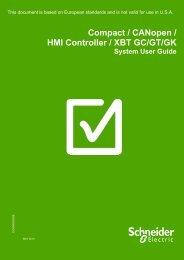 Compact / CANopen /HMI Controller / XBT GC ... - Schneider Electric