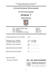 Vorhabenbezogener Bebauungsplan mit ... - Heinz Schneider