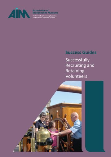 Success Guides Successfully Recruiting and Retaining Volunteers