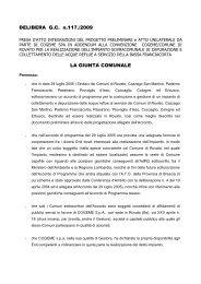 DELIBERA G.C. n.117./2009 LA GIUNTA COMUNALE