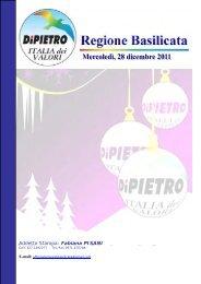 Scarica - basilicata - Italia Dei Valori