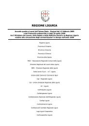 Accordo quadro - Regione Liguria