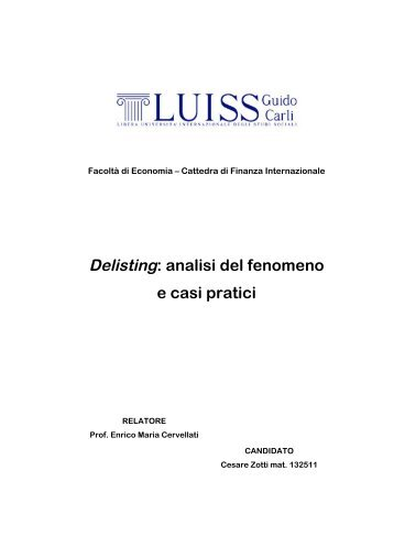 Delisting: analisi del fenomeno e casi pratici