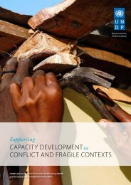 CapaCity Development ConfliCt anD fragile Contexts