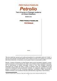 Petrolio - Pier Paolo Pasolini in Europe