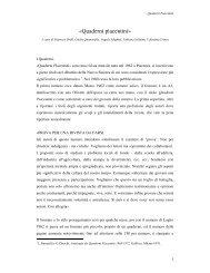 «Quaderni piacentini» - Sapienza Università di Roma