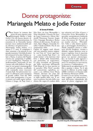Donne protagoniste: Mariangela Melato e Jodie Foster di ... - Anpi