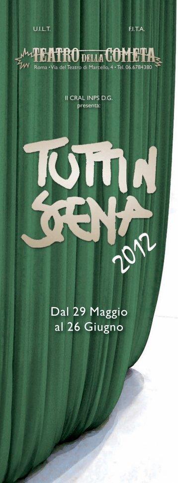 Dal 29 Maggio al 26 Giugno - Teatro della Cometa