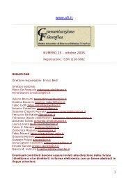 ottobre 2005 - Società Filosofica Italiana