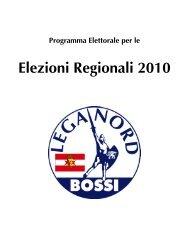 Elezioni Regionali 2010 - Lega Nord Casentino