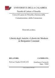 in Benjamin Constant - Mondoailati - Università della Calabria