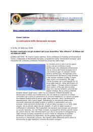 Vattimo - La costruzione della democrazia europea - N. Zingarelli