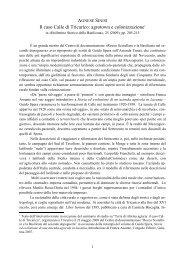 Il caso Calle di Tricarico - centro di documentazione Rocco Scotellaro
