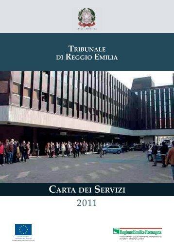 Carta dei servizi del Tribunale di Reggio Emilia