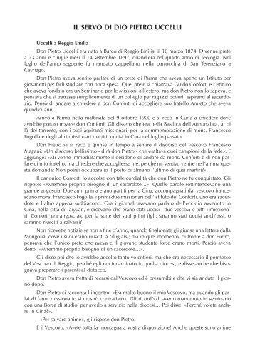 Luca Augusto Pietro Uccelli, uomo di dio (Biografia - Italia