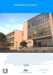 Scarica la Carta dei Servizi del Tribunale di Sciacca