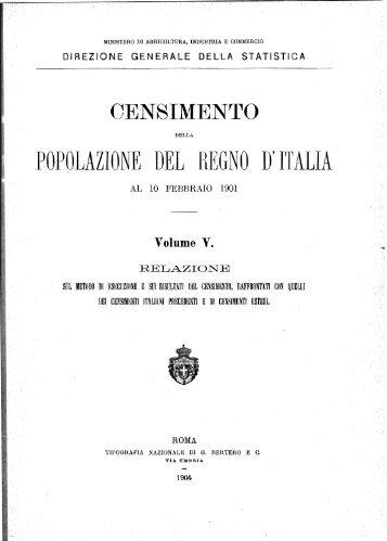 POPOLAZIONE .DEL REGNO D'ITALIA' - Istat