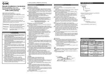 Manuale di installazione e manutenzione - SMC