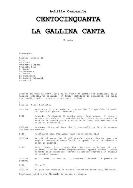 150 La Gallina Colle La Salle