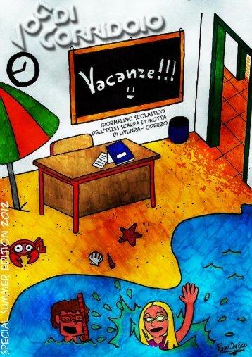 Voci di corridoio - Edizione vacanze 2012 - ISISS Antonio Scarpa