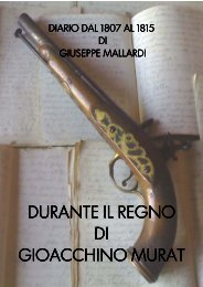 Diario Giuseppe Mallardi Capitano dei Lancieri di Murat