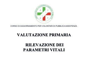VALUTAZIONE PRIMARIA RILEVAZIONE DEI RILEVAZIONE DEI ...