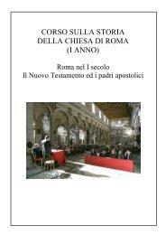 corso sulla storia della chiesa di roma (i anno) - Ufficio catechistico ...
