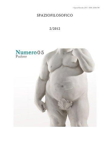 scarica l'intero numero come .pdf - Spazio filosofico
