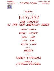 VANGELI - cristo re vangeli italiano latino inglese spagnolo acolta la ...
