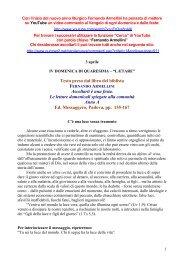 Commenti alle letture domenicali - 04 Aprile 2011 - Padre Lino Pedron