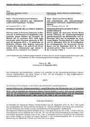 Provincia Autonoma di Bolzano Staat – Autonome Provinz Bozen ...