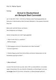 Armut in Deutschland am Beispiel Bad Cannstatt - Ambulante Hilfe ...