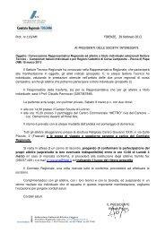 Prot. nr.116/AM FIRENZE, 28 febbraio 2013 AI PRESIDENTI DELLE ...