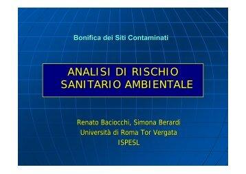 Concentrazione Rappresentativa alla Sorgente - Università degli ...