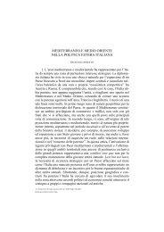 mediterraneo e medio oriente nella politica estera italiana - SIOI