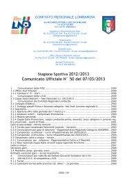 comunicato regionale Lombardia n. 50 del 7 marzo 2013