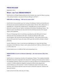 PRESS RELEASE What's `new' from AMAWATERWAYS