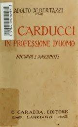 Il Carducci in professione d'uomo : ricordi e aneddoti