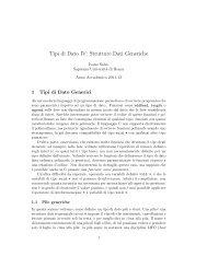 Tipi di Dato IV: Strutture Dati Generiche - TWiki - Sapienza