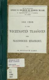 Der Chor in den wichtigsten Tragödien der französischen ...