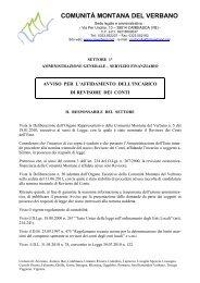 Avviso bando 2011 revisore.pdf - Comunità Montana del Verbano