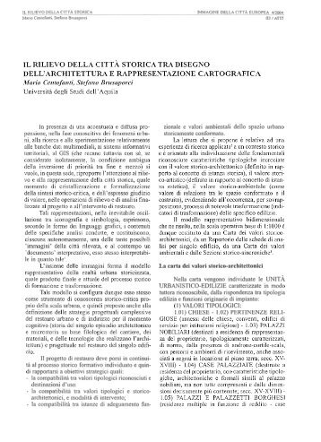 il rilievo della citt - Architettura ed urbanistica - Università degli Studi ...