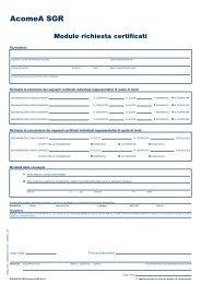 Modulo richiesta certificati - AcomeA
