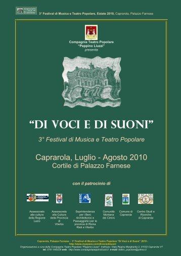 2010, Luglio-Agosto, Caprarola - festival di musica e ... - Amistrada