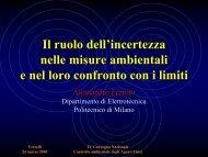 Il ruolo dell'incertezza nelle misure ambientali e nel ... - Arpa Piemonte