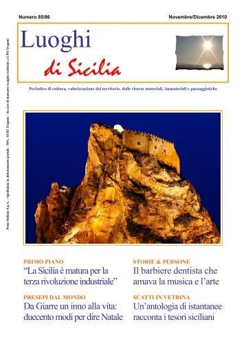 N. 85 / 86 - Nov. / Dic. 2010 PDF - Luoghi di Sicilia